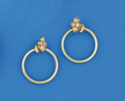 A pair of earrings, by Cartier