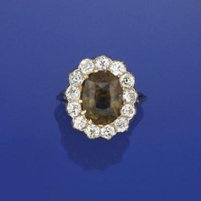 An Alexandrite and diamond clu
