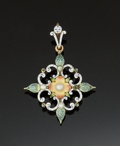 A late 19th century gold, seed