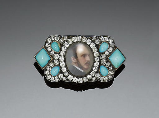 A 19TH CENTURY DIAMOND, TURQUO