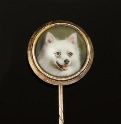 A late Victorian enamel stickp