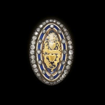 A Georgian diamond and enamel