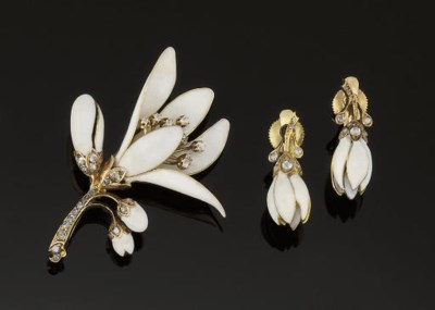 A late 19th century enamel and