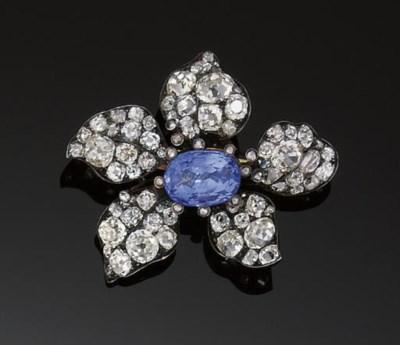 A late 19th century sapphire a
