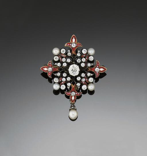 A LATE 19TH CENTURY DIAMOND, P