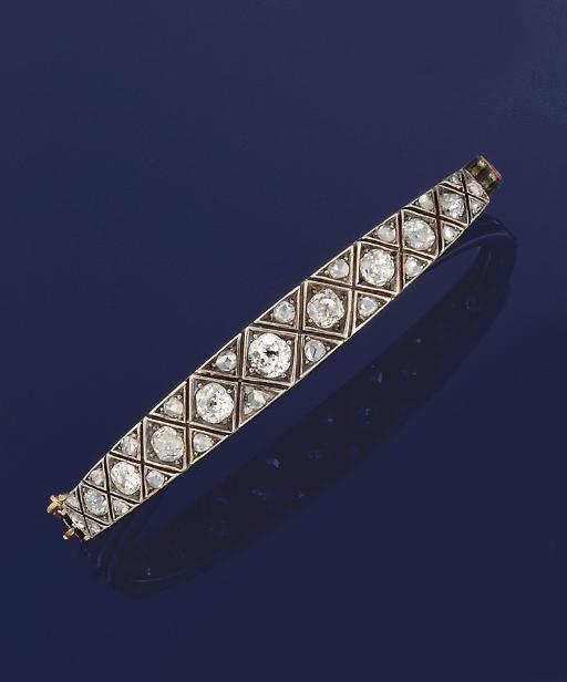A late 19th century diamond ba