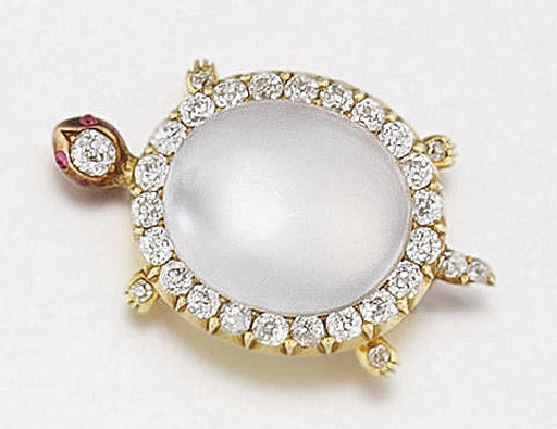 A Victorian moonstone and diam