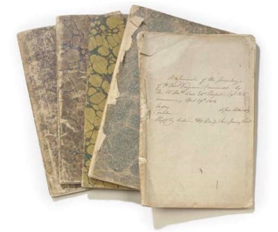 A SET OF SHIP'S LOGBOOKS FROM