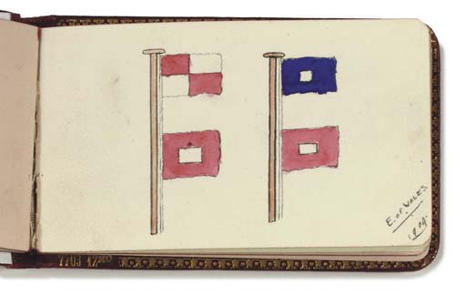 AN EARLY 20TH-CENTURY NAVAL AUTOGRAPH BOOK