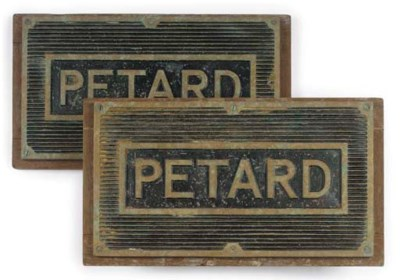 A PAIR OF TREAD PLATES FROM TH