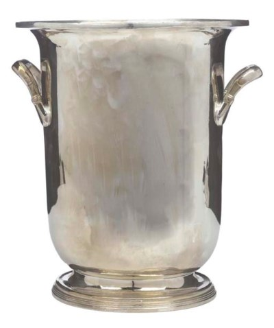 A SILVER-PLATED CHAMPAGNE ICE