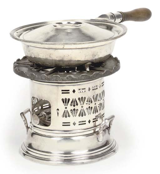 A TABLE BURNER FROM R.M.S. QUEEN MARY, CIRCA 1936
