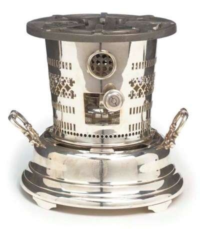 A SILVER-PLATED TABLE BURNER F