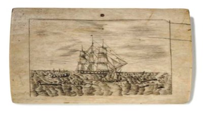 A 19TH-CENTURY SCRIMSHAW-DECOR