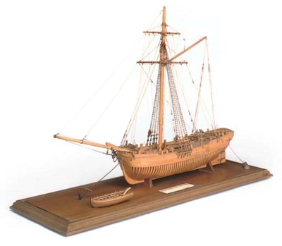A PARTIALLY-PLANKED RIGGED SCA
