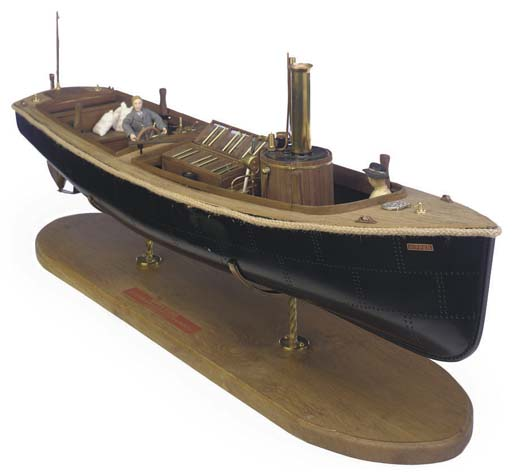 A WELL-DETAILED WOOD AND FIBREGLASS REMOTE CONTROL GAS-FIRED LIVE STEAM MODEL OF THE HARBOUR INSPECTION LAUNCH NIPPER [1900]