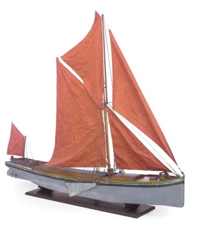 A MODEL OF THE THAMES SAILING