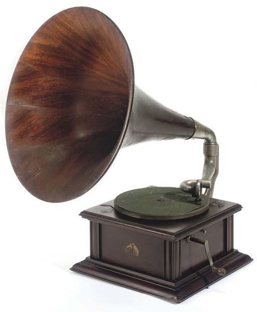 An HMV Model IIA Mahogany horn gramophone