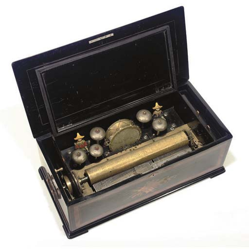 A Drum, Bells and Automaton Musical Box,