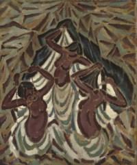 Bathing girls, India