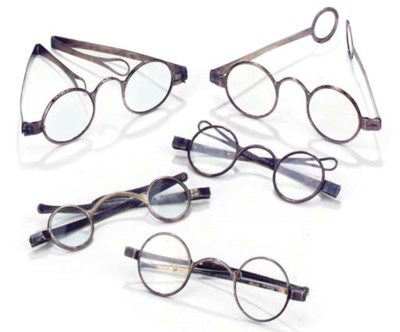 Eight pairs of silver spectacl