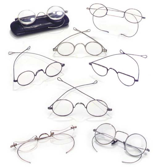 A miscellaneous collection of fifteen steel and silver spectacles,