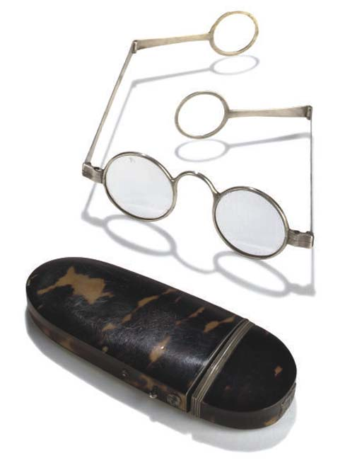 A pair of English silver spect