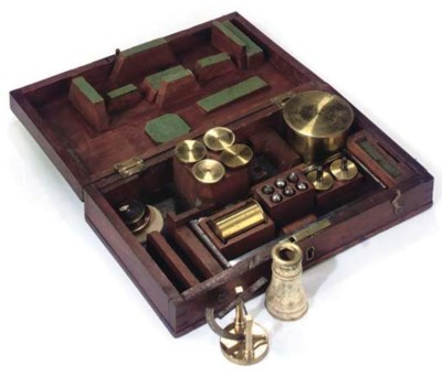 A cased set of instruments for