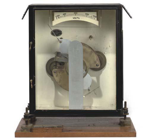 """A """"Kelvin"""" Vertical Electrostatic voltmeter,"""