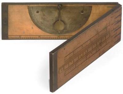 A brass-bound birch folding 12