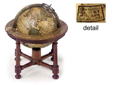 An English 3-inch table globe,