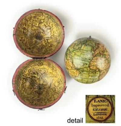 A Regency 3-inch pocket globe