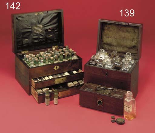 A George III mahogany domestic medicine chest,