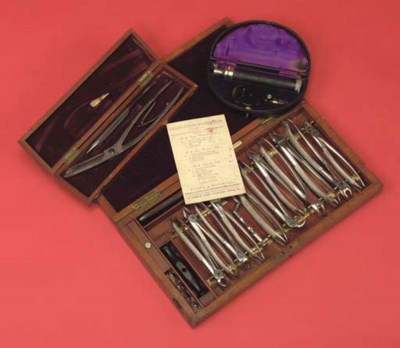 A late Victorian dental set in