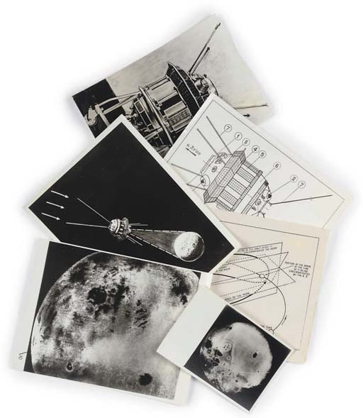 A collection photographs of the lunik 3 and the far side of the moon,
