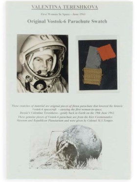 valentina tereshkova - swatches of marerial from the vostok-