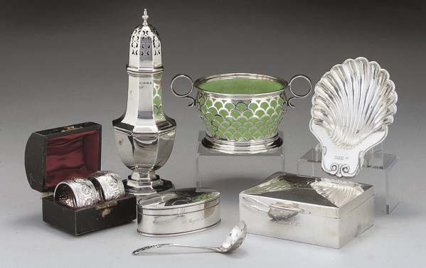 A SILVER SUGAR BOWL AND MATCHI
