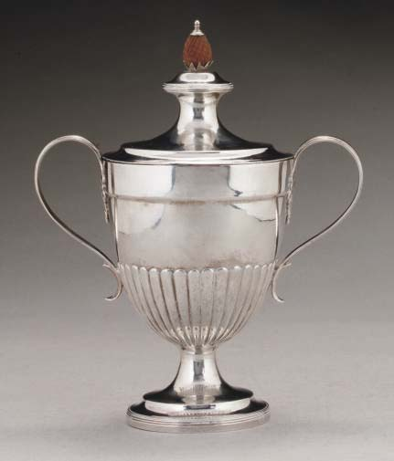 A GEORGE III GILT-LINED SILVER
