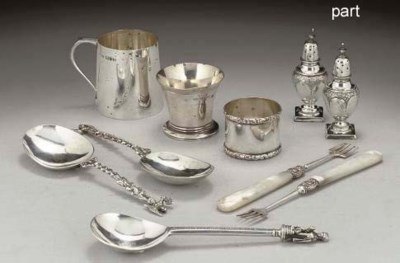 A GROUP OF MISCELLANEOUS SILVE
