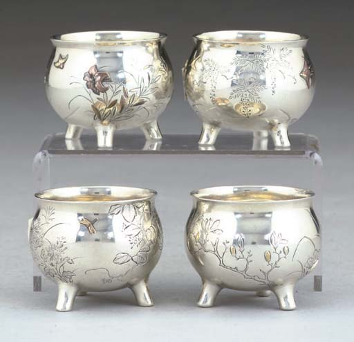 A SET OF FOUR SMALL LATE 19TH