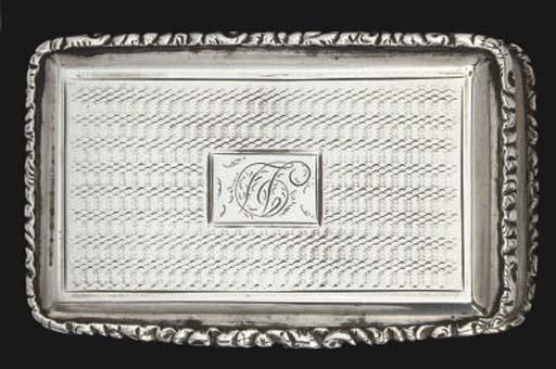 A William IV silver snuff box