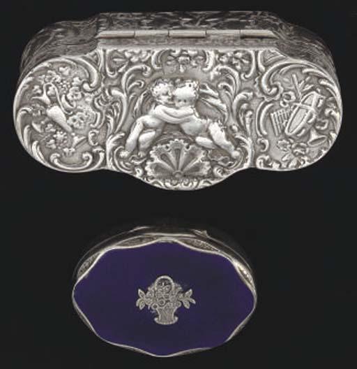 Four various silver boxes