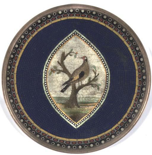 A micromosaic plaque