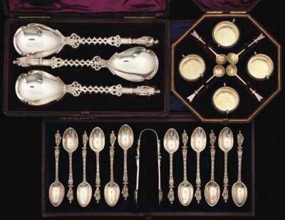 A CASED SET OF VICTORIAN SILVE