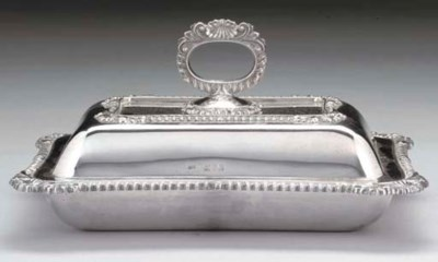 A LATE VICTORIAN OBLONG SILVER