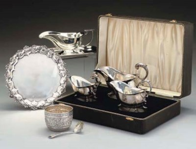 A GROUP OF SILVER COMPRISING:-