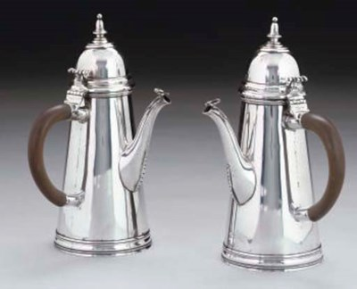 A PAIR OF GEORGE I STYLE SILVE