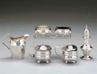 A GROUP OF 6 GEORGIAN SILVER I