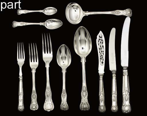 A VICTORIAN SILVER KINGS PATTE