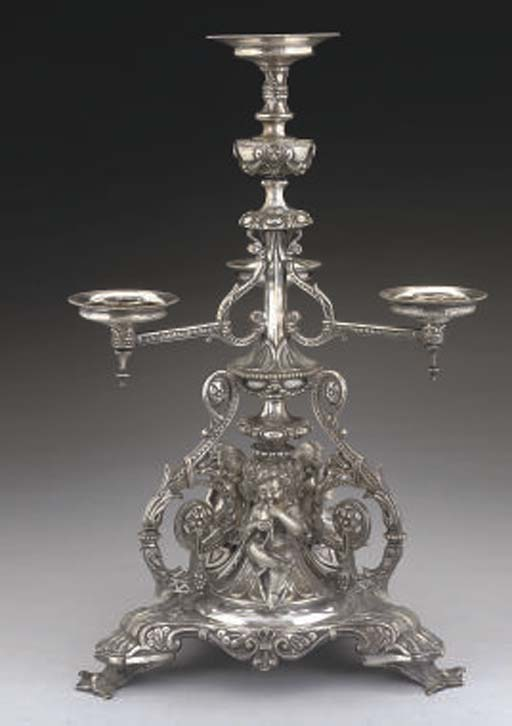 A VICTORIAN CAST ELECTROPLATED